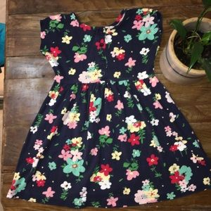 Hanna Andersson Blue Floral Dress Size 120
